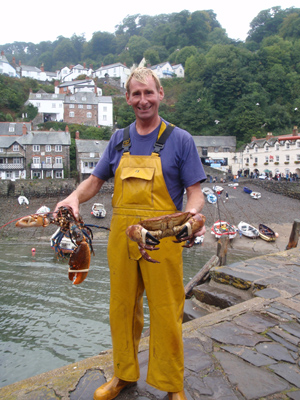 Photo of a lobster fisherman